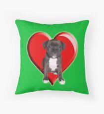 Staffy puppy Throw Pillow