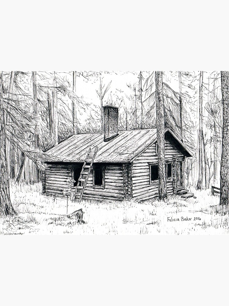 Cabin In The Woods Drawing - Room Pictures & All About Home Design ...