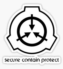 Secure Contain Protect Sticker
