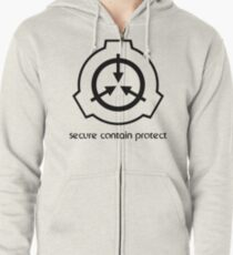 Secure Contain Protect Zipped Hoodie