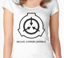 Secure Contain Protect Women's Fitted Scoop T-Shirt