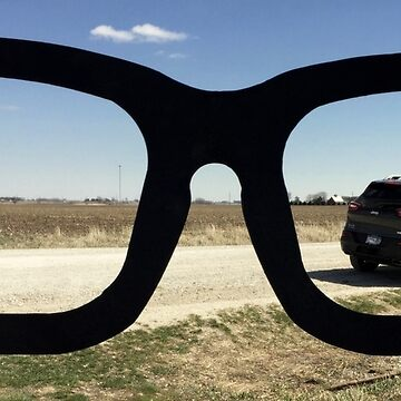 Buddy Holly Glasses With Jeep Cherokee by TheLoner