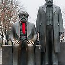 Marx, Engels and the red scarf by Cvail73