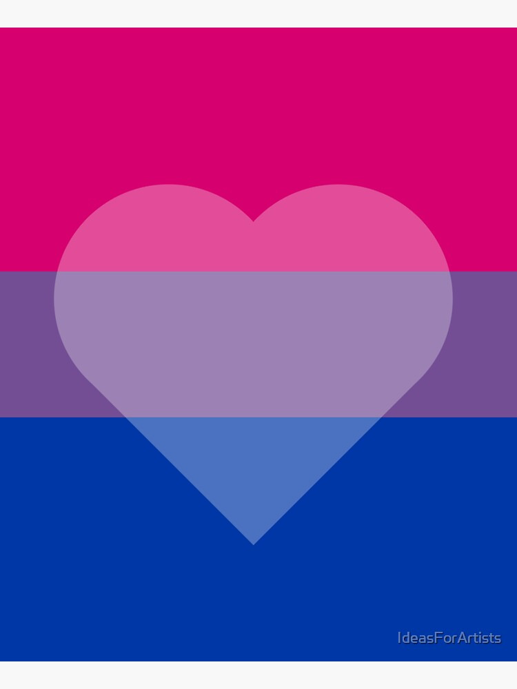 Bisexual Flag + Transparent Heart by IdeasForArtists