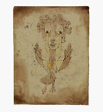 Paul Klee - Angelus Novus. Abstract painting: abstract art, geometric, Angelus,  Novus, lines, forms, creative fusion, spot, shape, illusion, fantasy future Photographic Print
