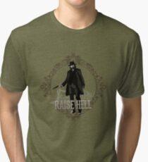 Raise Hell on Union Pacific Tri-blend T-Shirt