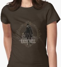 Raise Hell on Union Pacific Womens Fitted T-Shirt