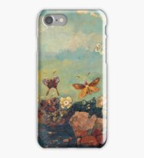 Odilon Redon - Butterflies 1910. Butterflies painting:  butterfly, fly,  butterfly, movement, flutter, fluttering, animal, colourful , little small, impression , nature iPhone Case/Skin