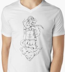 Monday Witch Mens V-Neck T-Shirt