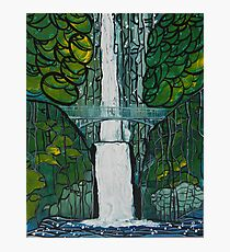 Multnomah Falls Painting Photographic Print