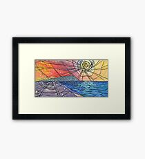Seaside Abstract Painting Framed Print