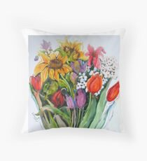 Garden Show Throw Pillow