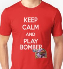 Keep Calm And Play Bomber Slim Fit T-Shirt