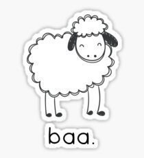 Baa says the sheep. Sticker