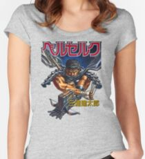 Black Swordsman Women's Fitted Scoop T-Shirt
