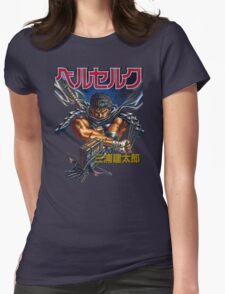 Black Swordsman Womens Fitted T-Shirt
