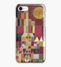 Paul Klee - Castle And Sun. Abstract painting: abstract art, geometric, Castle , composition, lines, forms, Sun, spot, shape, illusion, fantasy future iPhone Case/Skin