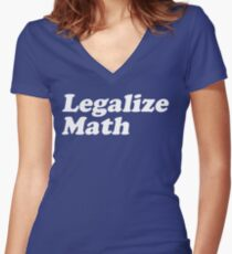 Legalize Math Women's Fitted V-Neck T-Shirt