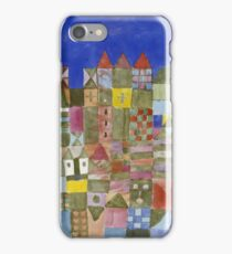 Paul Klee - Marjamshausen, 1928. Abstract painting: abstract art, geometric,  building, house, lines, forms, creative fusion, spot, shape, illusion, fantasy future iPhone Case/Skin