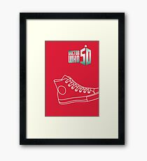 Doctor who converse Framed Print