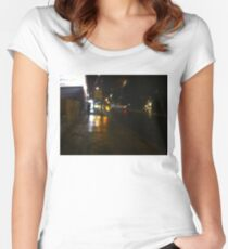 Stormy night Women's Fitted Scoop T-Shirt