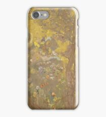 Odilon Redon - Trees On A Yellow Background 1901. Garden landscape: garden view, trees and flowers, blossom, nature, botanical park, floral flora, wonderful flowers, plants, cute plant, garden, flower iPhone Case/Skin