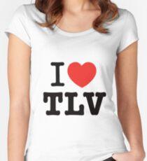 i love Tel Aviv Women's Fitted Scoop T-Shirt