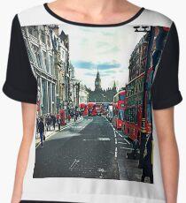 Red London Chiffon Top