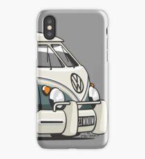 VW T1 23 window cartoon green iPhone Case/Skin