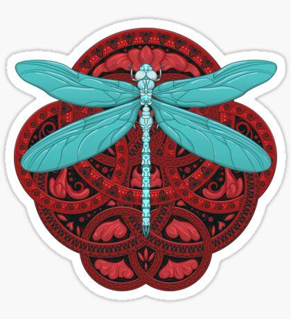 Dragonfly Fire Sticker