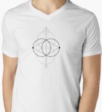 Geometry machines  Men's V-Neck T-Shirt
