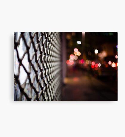 blurred street Canvas Print