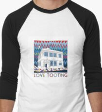 Love Tooting (Tooting Library) Men's Baseball ¾ T-Shirt