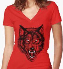 NWO Wolfpack Women's Fitted V-Neck T-Shirt