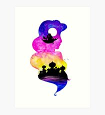 Princess Jasmine Double Exposure! Art Print