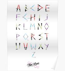Lightsaber Typeface Poster