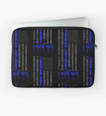 Thin Blue Line - I Bleed Blue Laptop Sleeve