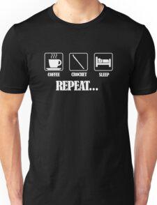 Coffee Crochet Repeat Dark Unisex T-Shirt