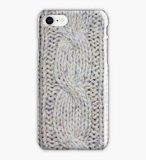 Cream Cable Knit iPhone Case/Skin