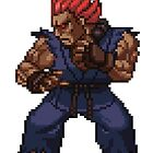 Akuma - Street Fighter Sprite by Lupianwolf