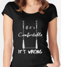 It's Wrong - Trapeze White Women's Fitted Scoop T-Shirt