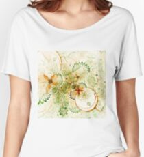 Light Floral Pattern - Abstract Fractal Artwork Women's Relaxed Fit T-Shirt