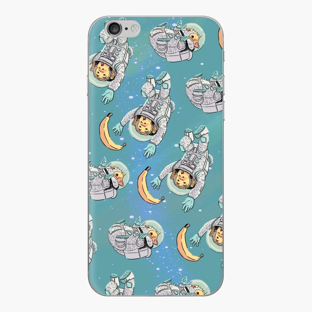 Space Critters - Hamster and Monkey iPhone Skin
