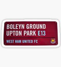 West Ham Upton Park  Sticker