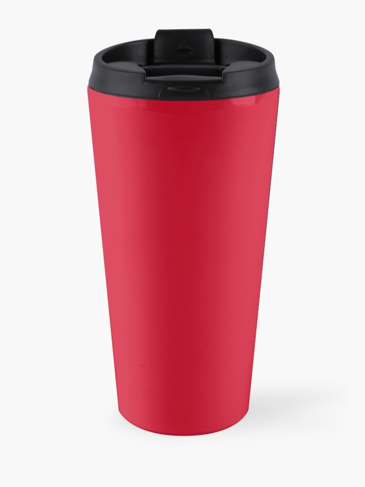 Alternate view of Hail Satan... Drink Coffee! Red Coffee Cup Design with the Devil Travel Mug