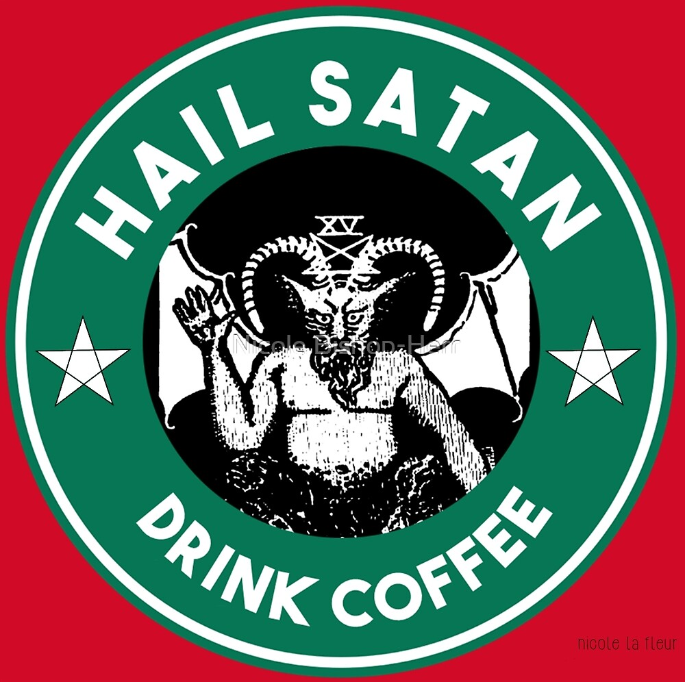 Quot Hail Satan Drink Coffee Red Coffee Cup Design With