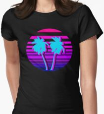 Aesthetic Palm trees Fitted T-Shirt