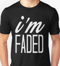 Faded white print Unisex T-Shirt