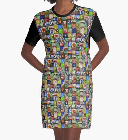 BlackHalt`s Instagram Photos #DeepDreamed Graphic T-Shirt Dress