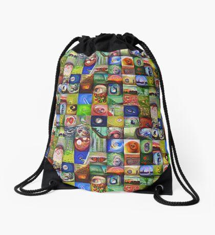 BlackHalt`s Instagram Photos #DeepDreamed Drawstring Bag